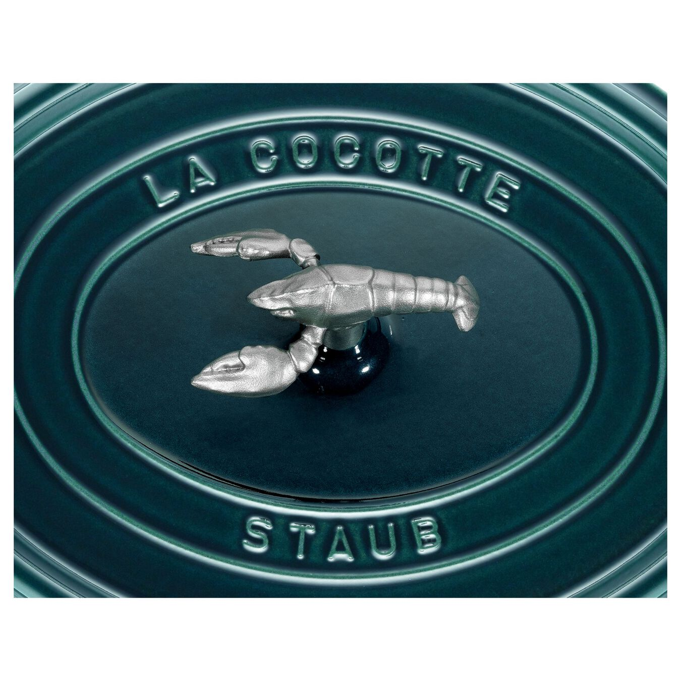 Cocotte bouton homard 31 cm, Ovale, La-Mer, Fonte,,large 7