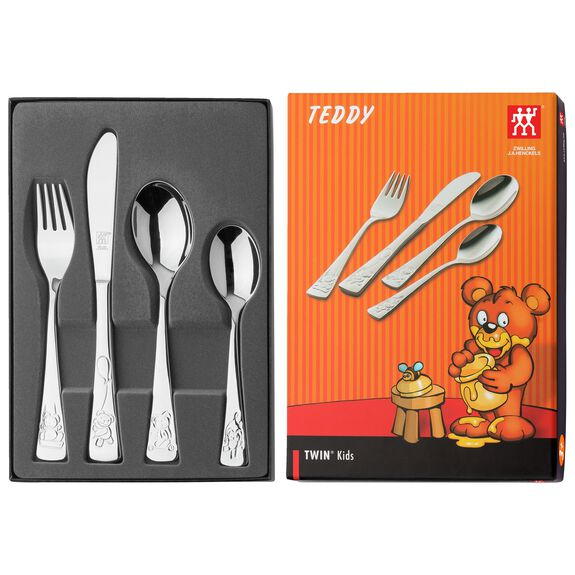 4-pcs  Children's flatware set Teddy,,large 2