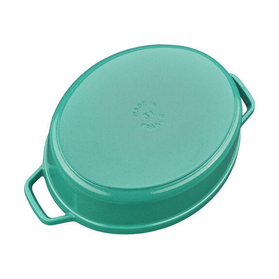 6-qt Cocotte, Turquoise,,large 3