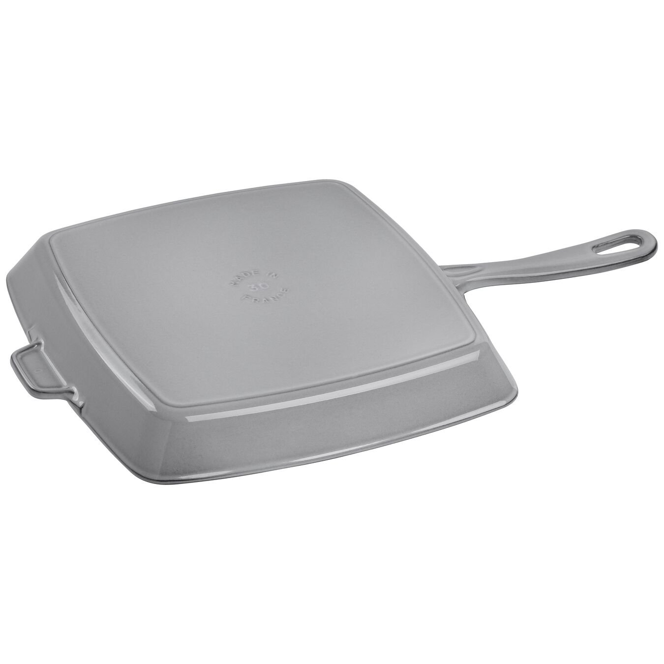 12-inch, cast iron, square, Grill Pan, graphite grey,,large 2