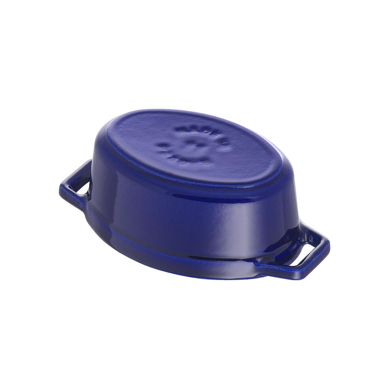 250 ml Cast iron oval Mini Cocotte, Dark-Blue,,large 4