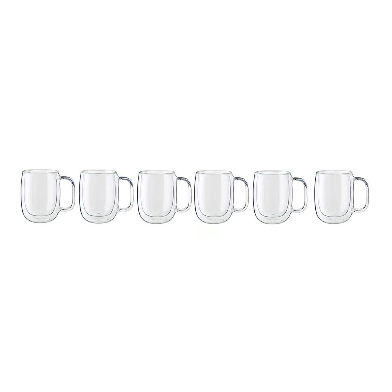 6-PC DOUBLE-WALL GLASS COFFEE MUG SET,,large 1