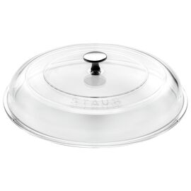 Staub Cast Iron, 9.5-inch Glass Lid domed made of glass