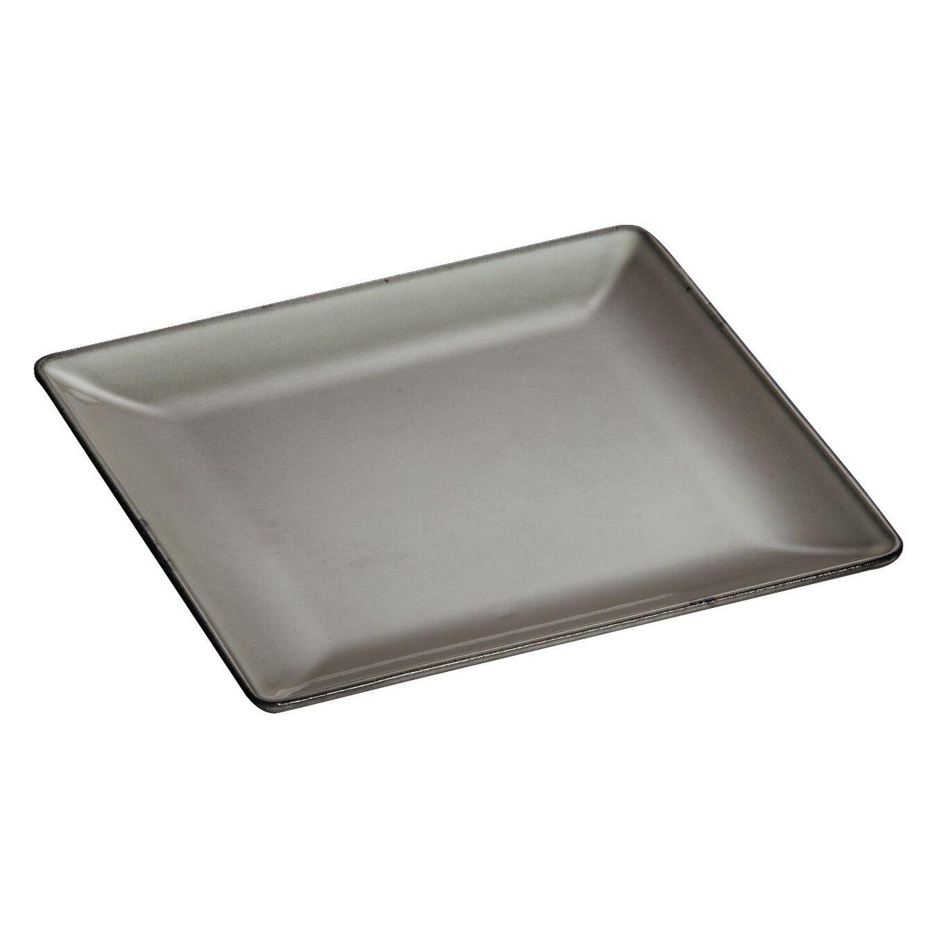 Assiette 24 cm x 24 cm, Gris graphite, Fonte,,large 1