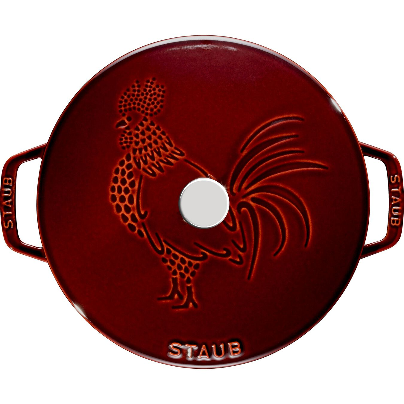 3,6 l Cast iron round Cocotte, Grenadine-Red,,large 2