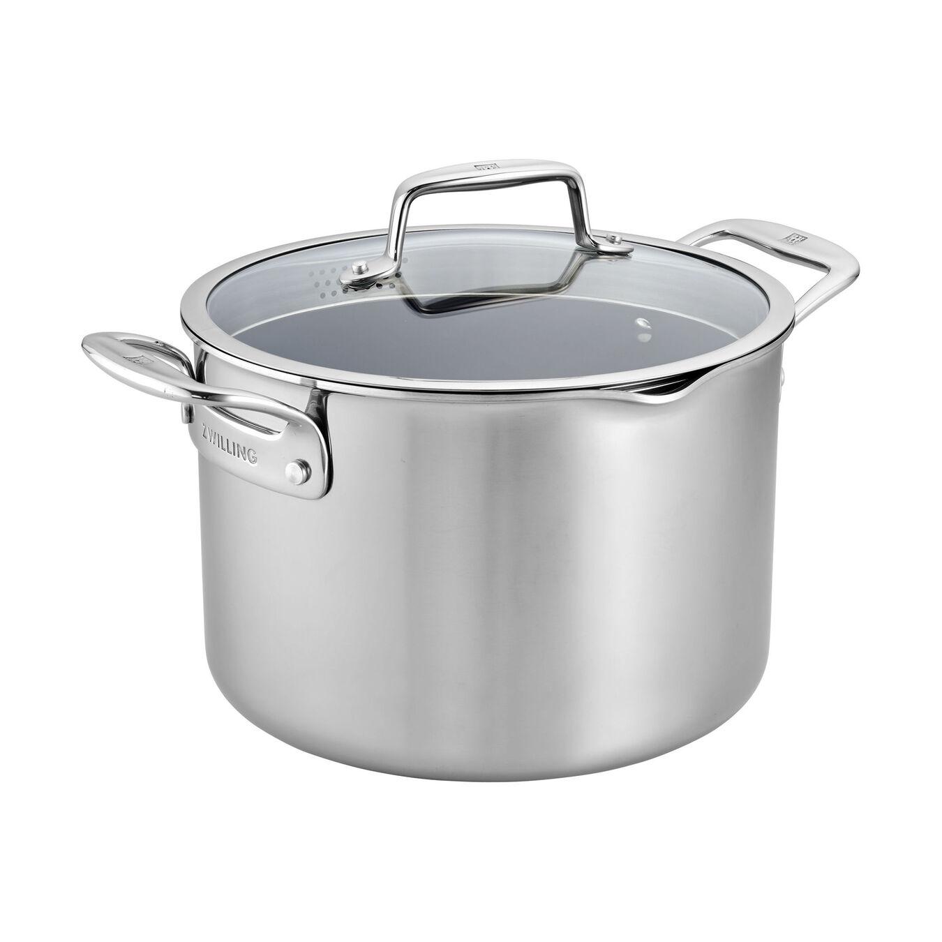 8-qt Stainless Steel Ceramic Nonstick Stock Pot,,large 1