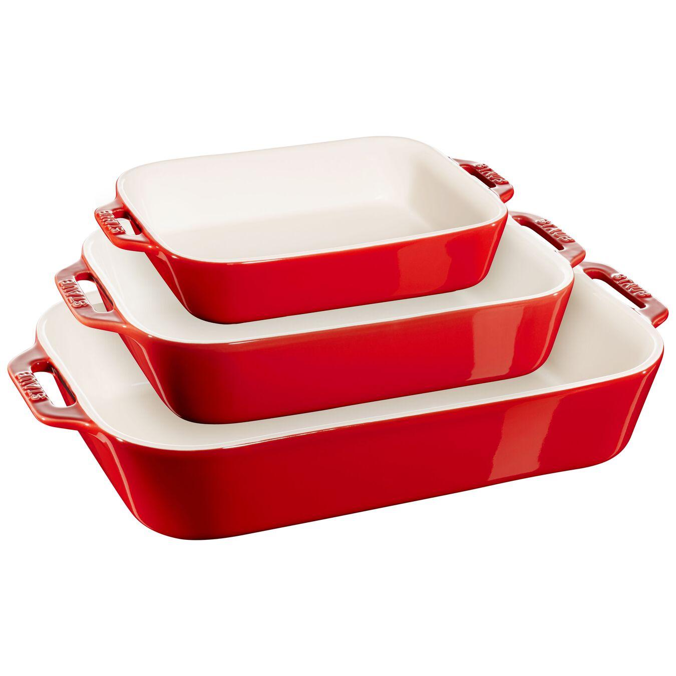 3-pc, Ovenware set, cherry,,large 1
