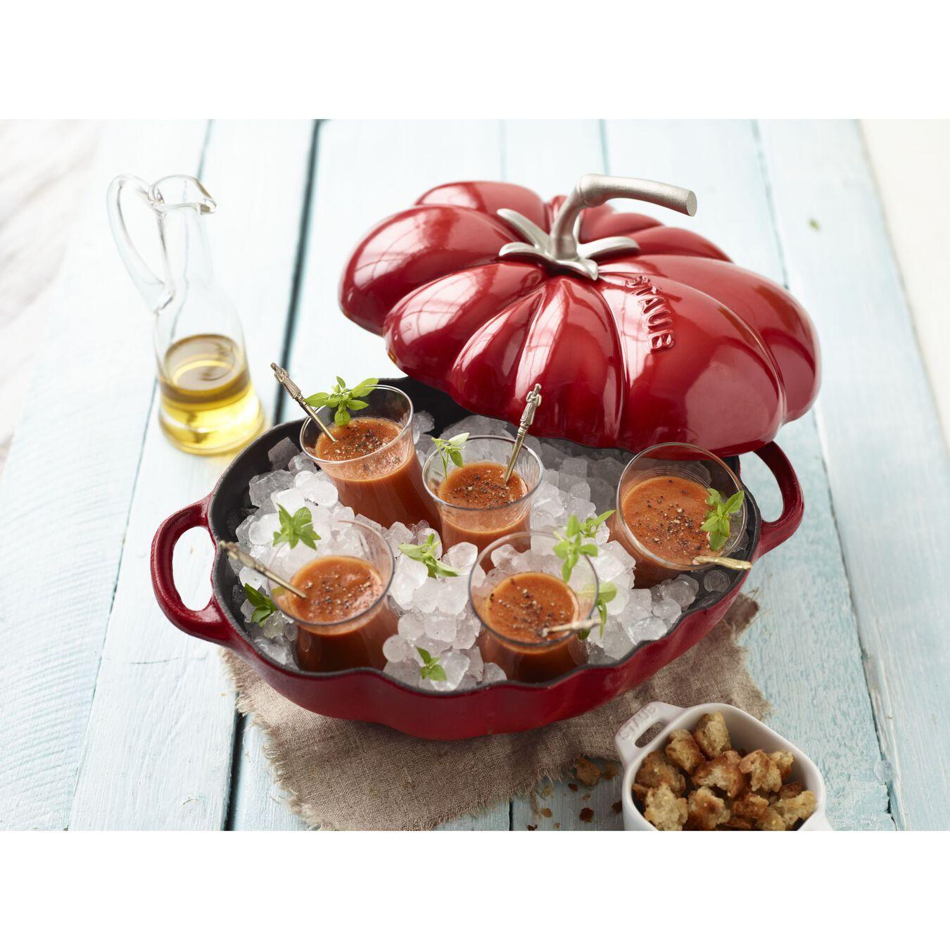 3 qt, tomato, Cocotte, cherry,,large 3