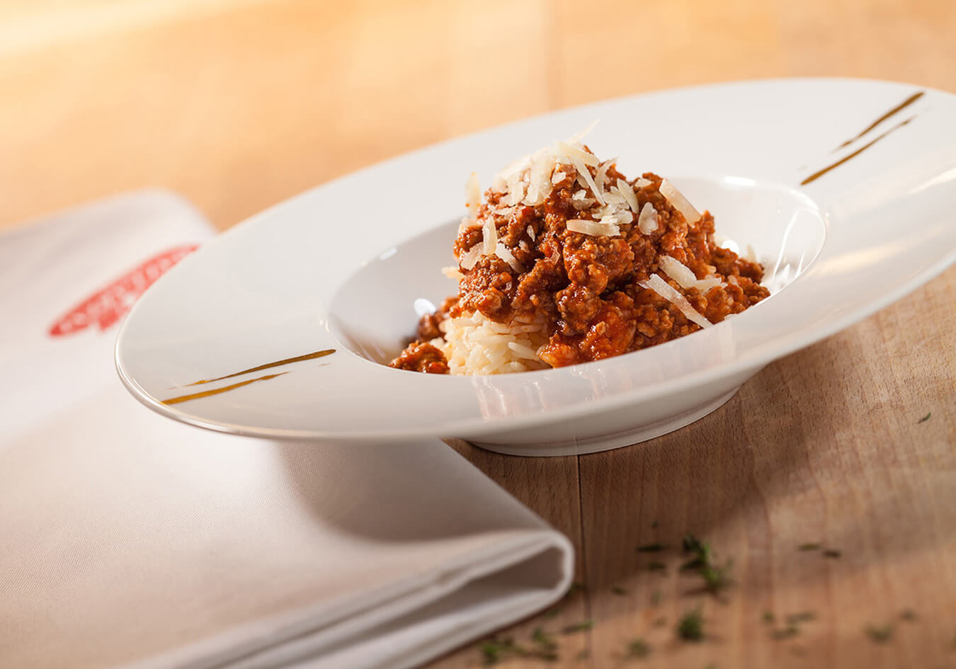 Bolognese and rice