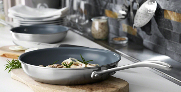 ZWILLING SPIRIT CERAMIC NONSTICK 2-PC CERAMIC NONSTICK FRY PAN SET