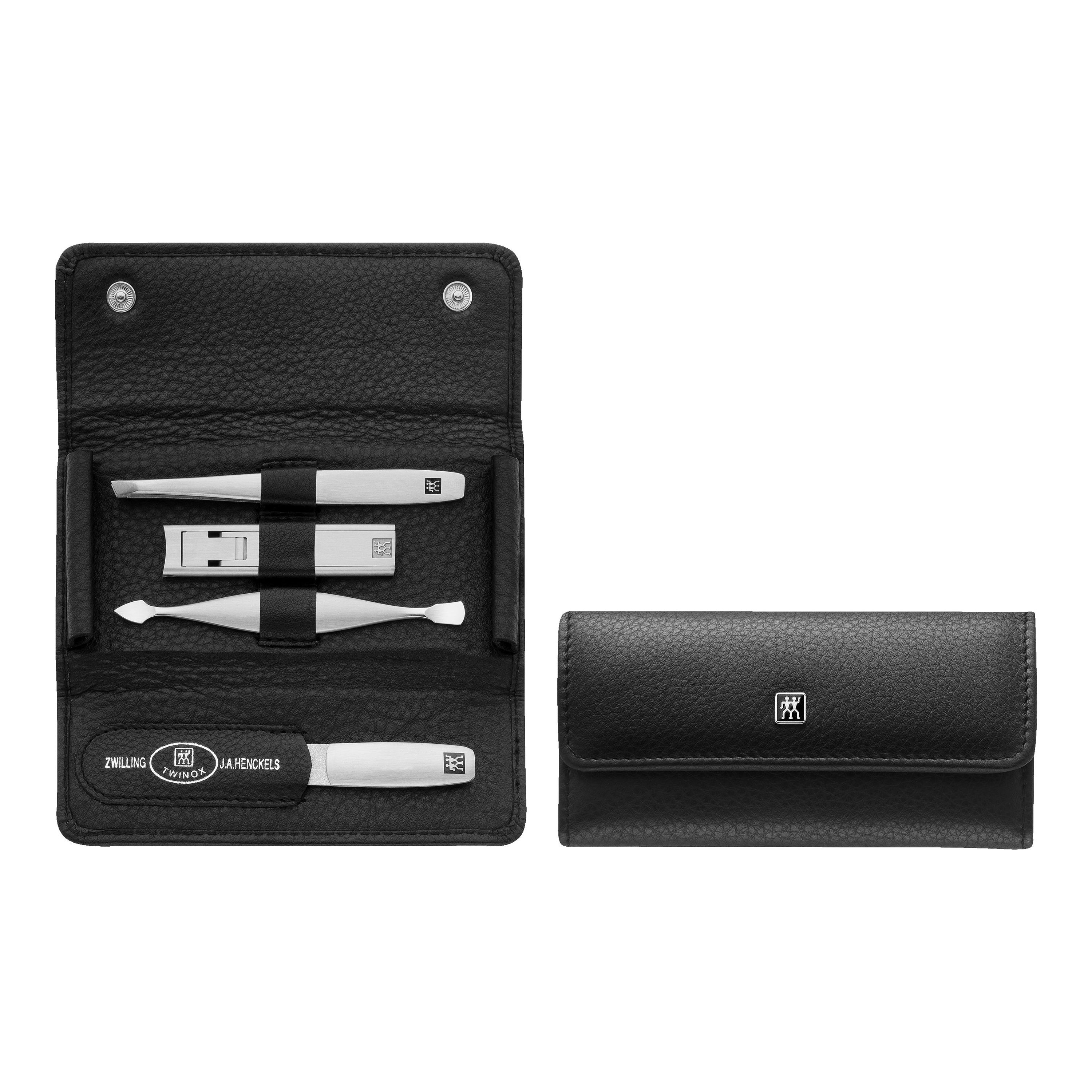 ZWILLING TWINOX 5-pc, Leather Snap fastener case, black ...