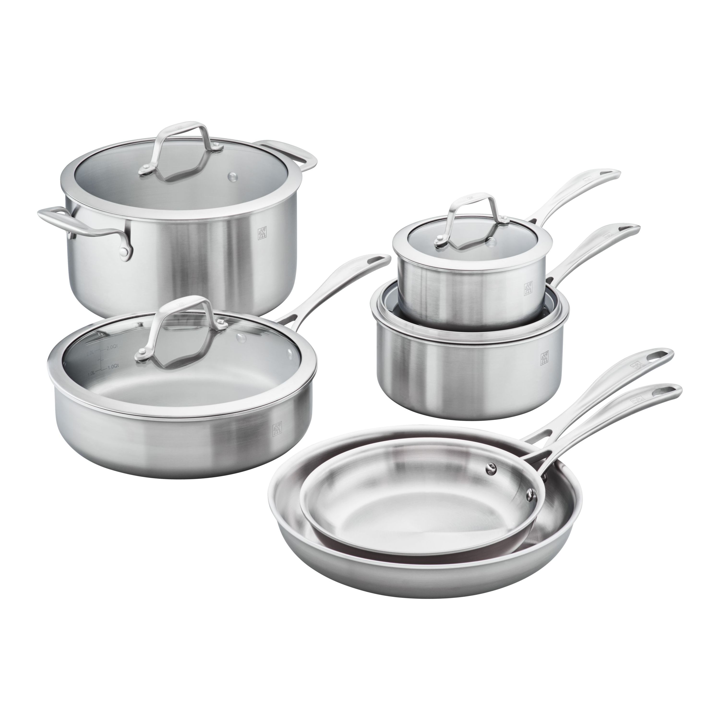 Zwilling Spirit Stainless 3 Ply 10 Pc Stainless Steel Cookware Set Official Zwilling Shop