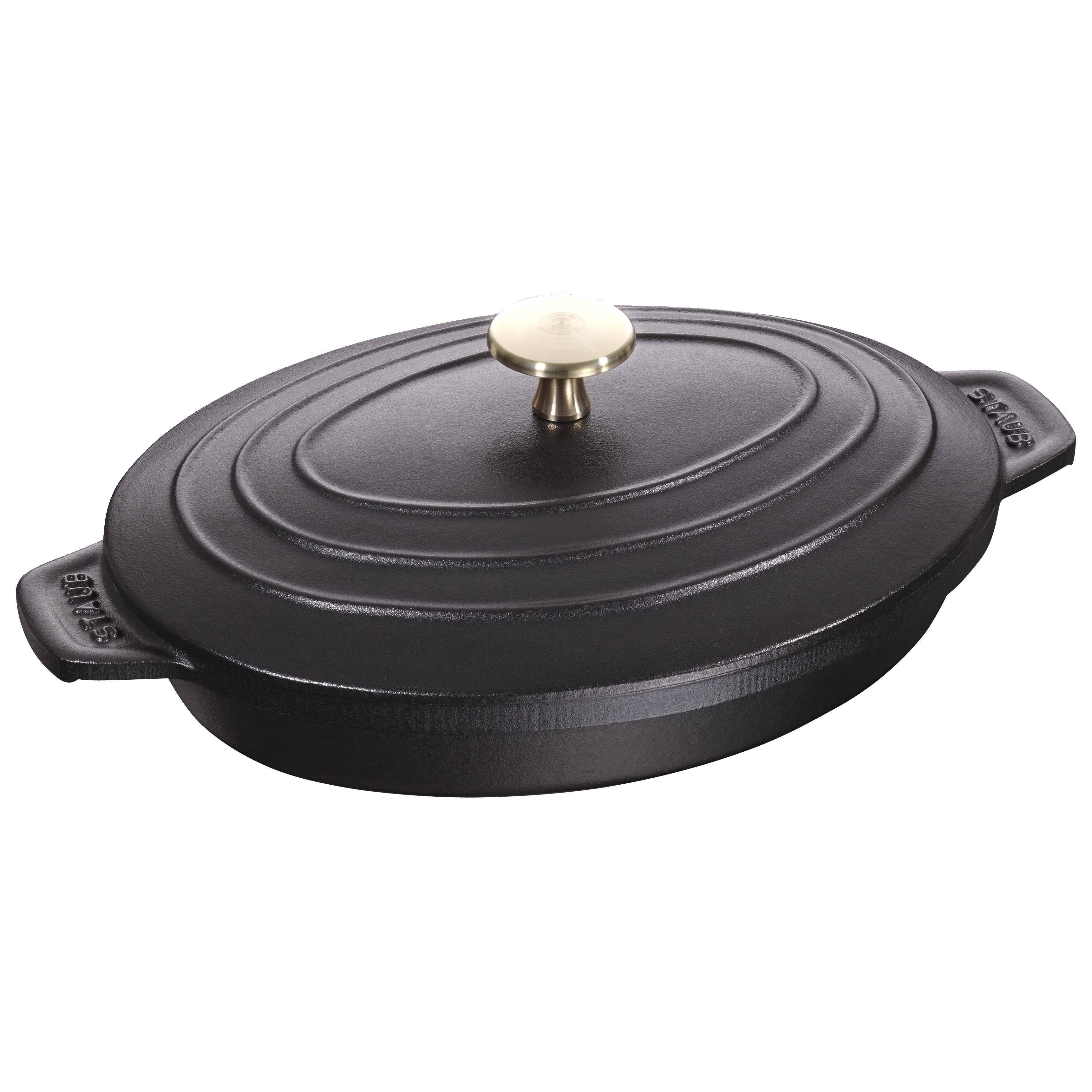 Clearance Sale! Fancy Cook 3 Piece Cast Iron Enamel Matt Black Skillet Set.