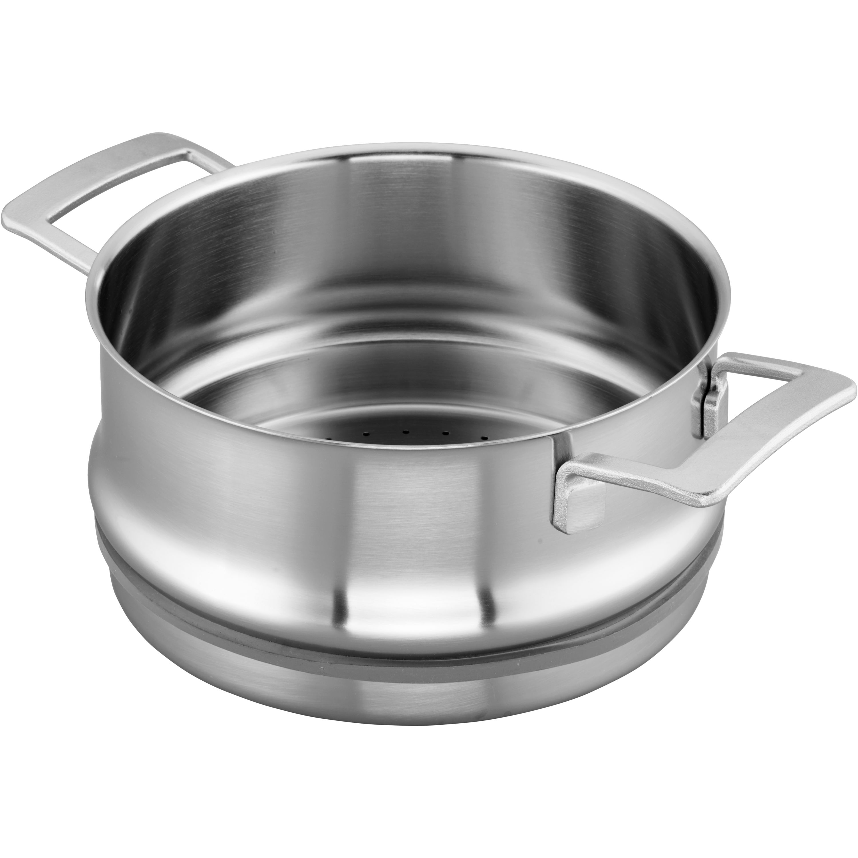 Demeyere Industry 5 Ply 5 5 Qt Stainless Steel Steamer Insert Fits 8 Qt Stock Pot 5 5 Qt Dutch Oven Official Zwilling Shop