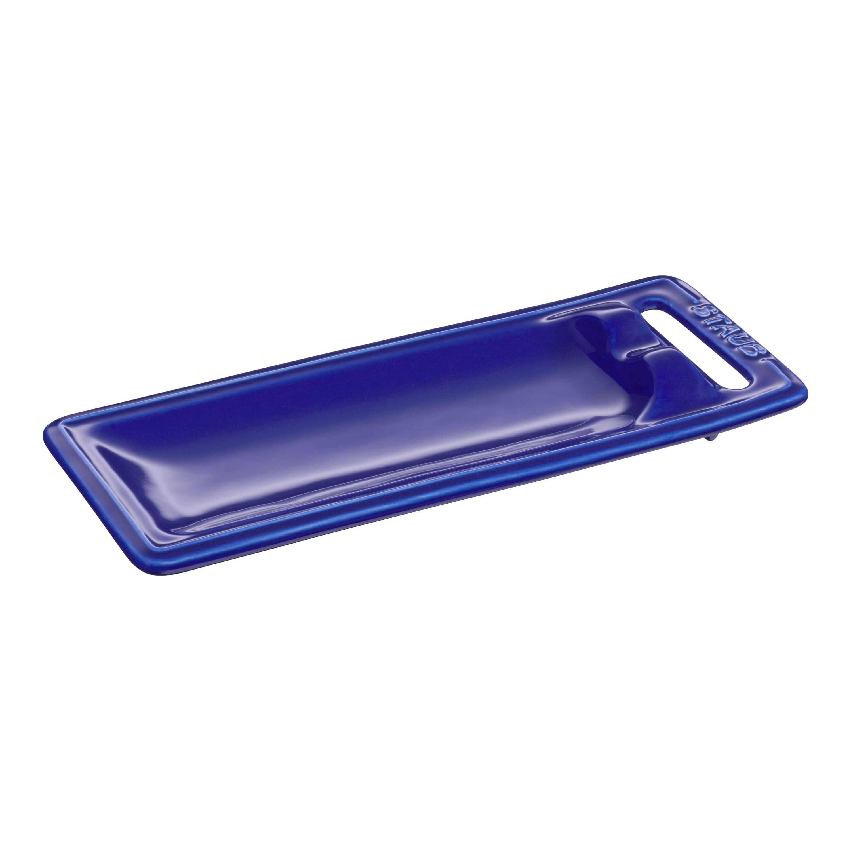 Staub Ceramique 25 Cm X 10 Cm Ceramic Spoon Rest Dark Blue Official Zwilling Shop